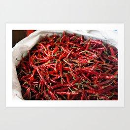 Love of Chili Art Print