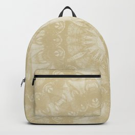 Peaceful kaleidoscope in beige Backpack