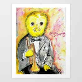 Chicks Beiderpecke Art Print