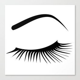 Closed Eyelashes Left Eye Canvas Print