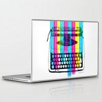 typewriter Laptop & iPad Skins featuring Typewriter by Elizabeth Cakovan