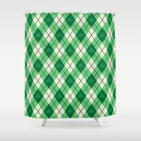 irish Shower Curtains featuring Irish Argyle by Fimbis