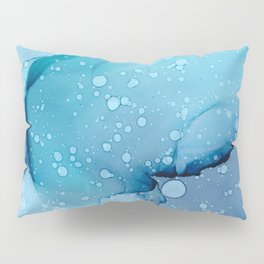 Passing Rain Fluid ink abstract watercolor Pillow Sham
