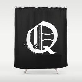 Letter Q Shower Curtain