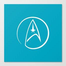 Heathen Trekkie - StarTrek 's Spock Blue Canvas Print