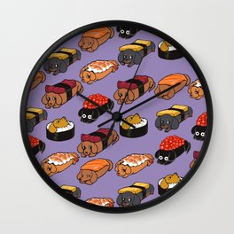 Sushi Daschunds Wall Clock