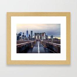 Brooklyn lines Framed Art Print