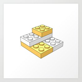 Bricks - Yellow Art Print