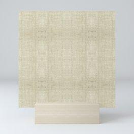 """Nude Burlap Texture"" Mini Art Print"