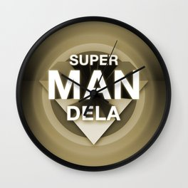 SuperMANDELA Light Wall Clock