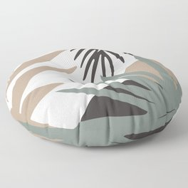 Abstract Modern Leaves Floor Pillow