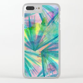 tropical love Clear iPhone Case