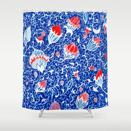 Floral Pattern Shower Curtain