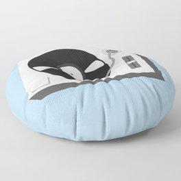 Turntable Illustration Floor Pillow