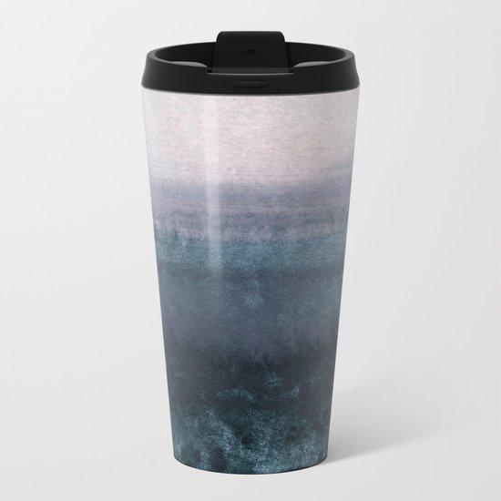 minimalist atmospheric landscape 1 Metal Travel Mug