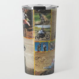 Motocross Collage Travel Mug