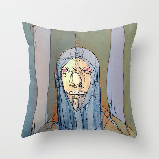 Daniel Rocket Moon Throw Pillow