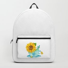 Sunflower Cup of Tea Backpack