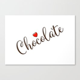 Chocolate Love Canvas Print