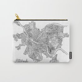 Pittsburgh Neighborhoods - black and white Carry-All Pouch