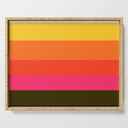 Earth and Summer Sky - Color Strips - Colors of Travel Serving Tray