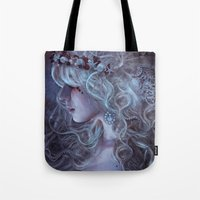 medusa Tote Bags featuring Medusa by Alexandra V Bach