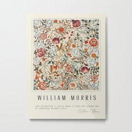 Modern poster-William Morris-Vegetable print 6. Metal Print