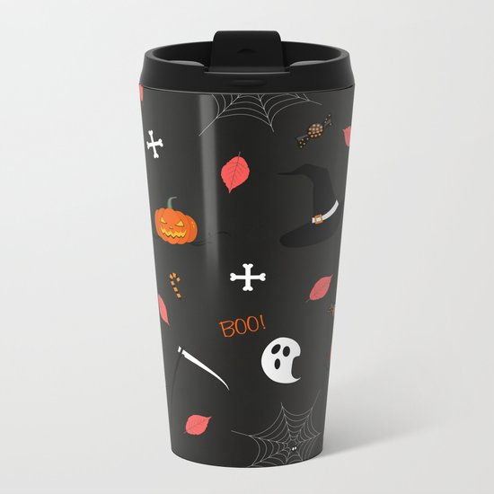 Halloween Pattern Metal Travel Mug