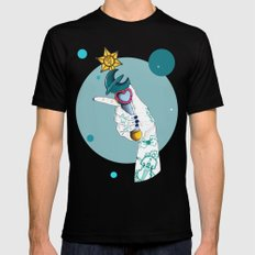Neptune Black LARGE Mens Fitted Tee