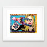 fault Framed Art Prints featuring Your Fault by Alexandra de Kempf