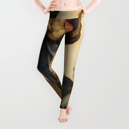 The Sistine Madonna Oil Painting by Raphael Leggings