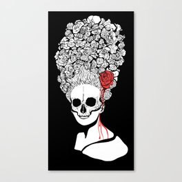 Skull and flower Canvas Print