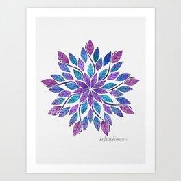 Leaf Mandala - Jewel Tones Art Print