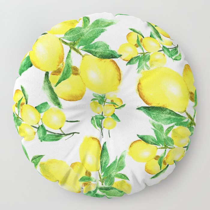 lemon Floor Pillow
