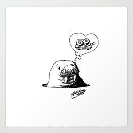 Oishii Walrus Art Print