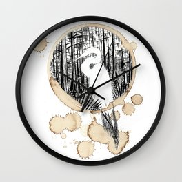 Coffee Stained Egret-Louisiana Series Wall Clock