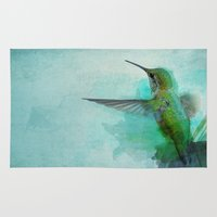 hummingbird Area & Throw Rugs featuring Hummingbird by Marvelis