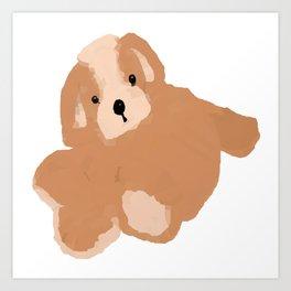 Soft Vector Puppy Art Print