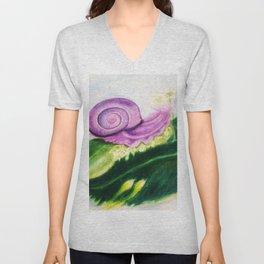 The Purple Snail Unisex V-Neck