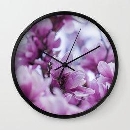 pink magnolia #society6 #decor #buyart Wall Clock
