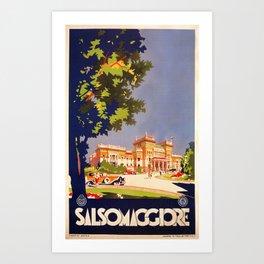 Salsomaggiore Italy 1920s Art Print