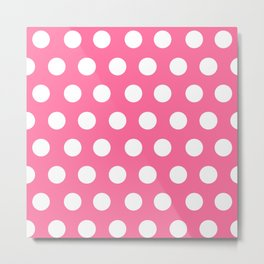Minnie Mouse Dots | Pink Metal Print