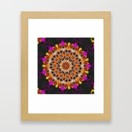 Jelly Bean Bonanza Mandala Framed Art Print
