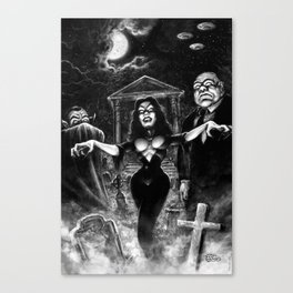 Vampira Plan 9 Canvas Print