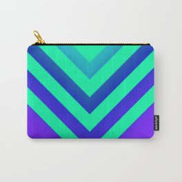 Cyan & Violet Chevron Carry-All Pouch
