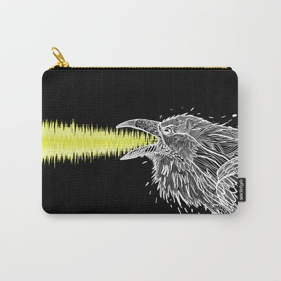 Noise. White Raven.  Carry-All Pouch