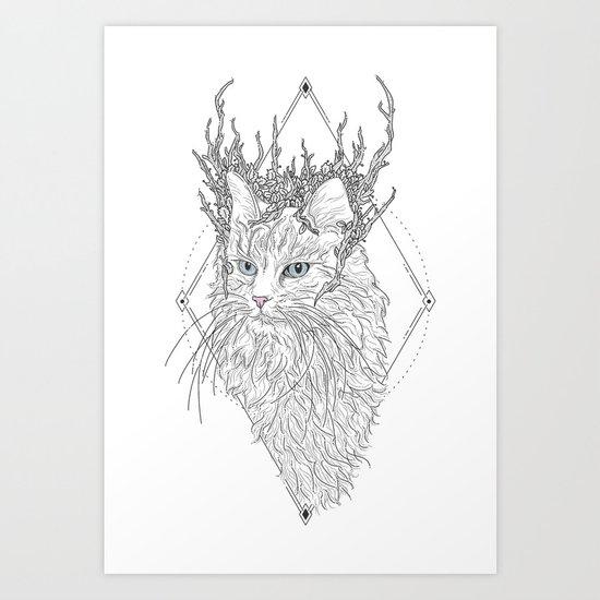 Thranduil Cat Art Print