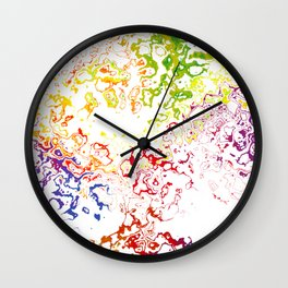 Rainbow Spurt 01 Wall Clock