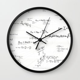 Mathspace - High Math Inspiration - Inverted Color Wall Clock