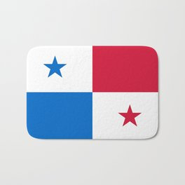 flag of panama-Panama,Panamanian,canal,spanish,San Miguelito,Tocumen,latine,central america,panameno Bath Mat